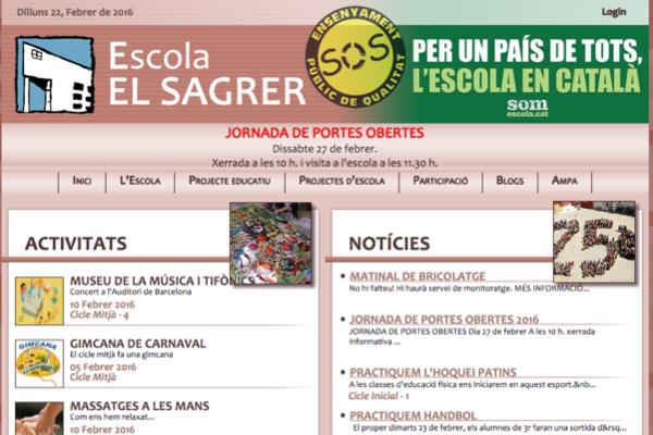 web ESCOLA EL SAGRER