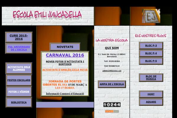 WEB Escola Emili Juncadella